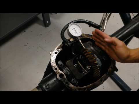 How to measure ring gear & axle flange runout & ring gear backlask