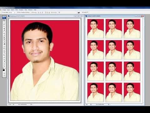 How To Create A Photoshop Passport Size Photo Background Chang Kya Kre Kaise Banaye hindi Me