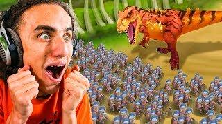 1,000 Soldiers Vs. 1 Massive Dinosuar! - Primal Wars: Dino Age