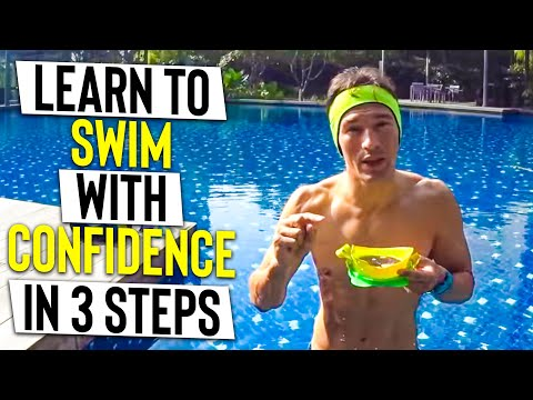 LEARN to swim CONFIDENT, FLOAT & BE WATER SAFE in 3 Steps - Tutorial for BEGINNERS (Breathe relax)