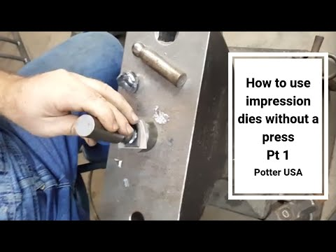 How to use impression dies without a press