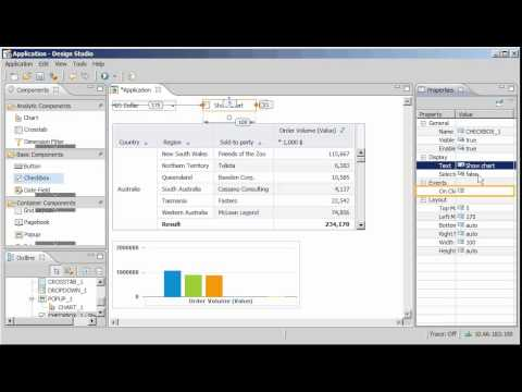 Add a popup window to an application: SAP BusinessObjects Design Studio 1.0