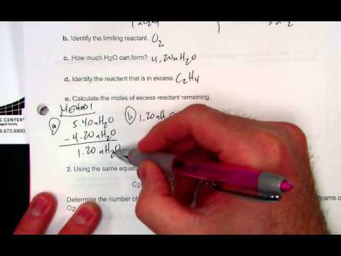 calculating excess reactant