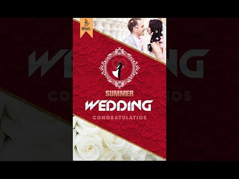 How to design wedding invitation card design in photoshop