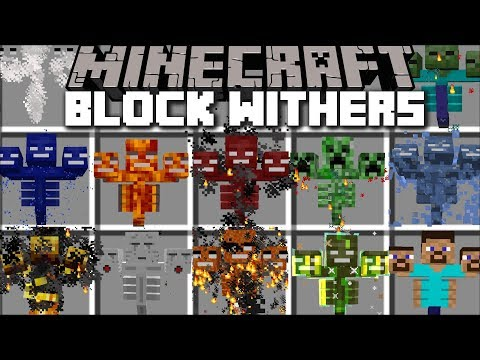 Minecraft BLOCK WITHER MOD / FIGHT THROUGH THE STORM OF WITHERS AND SURVIVE!! Minecraft