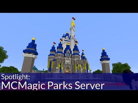 Go to Disney World in Minecraft!