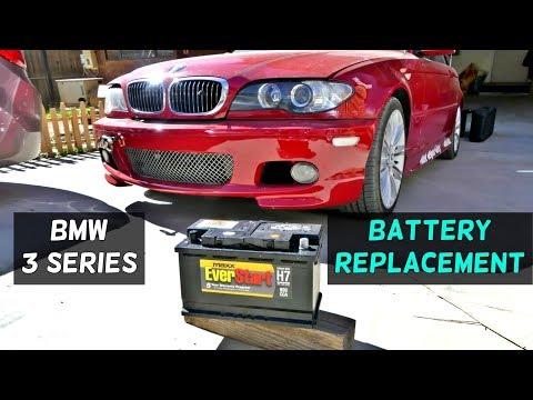 HOW TO REPLACE BATTERY ON BMW E46 316i 318i 320i 323i 325i 328i 330i 320d 330d