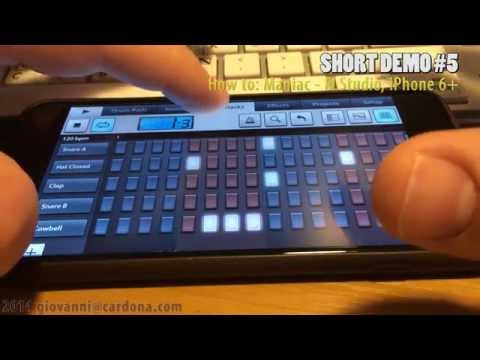 How To: Maniac - FLStudio Mobile - iPhone 6 Plus (short demo #5)