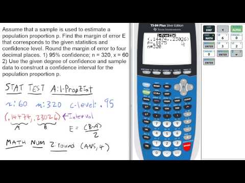 Find Margin of Error for Given Stats & Confidence Level. Stats 160 Final Review #1
