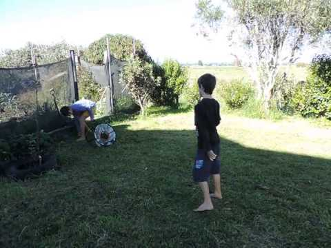 Chipping practice in Pukehina, NZ