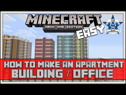 Minecraft - How To Build Apartment/Office Buildings (VERY EASY) XBOX/PS4/PC