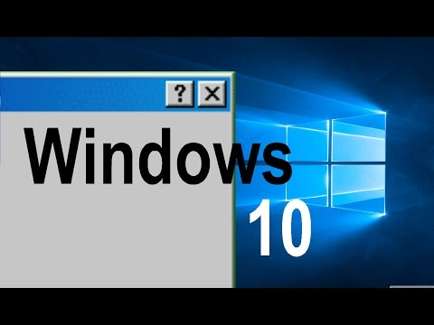 Enabling the Classic Theme on Windows 10