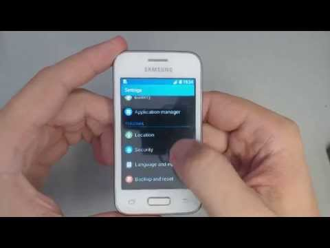 How to factory reset Samsung Galaxy Young 2 G130HN  from menu settings