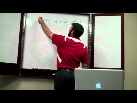 Solving equations Special Situations 002