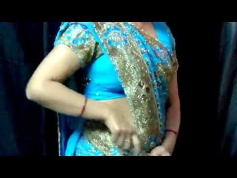 How to wear Heavy bridal Saree - Free Style or Fish Cut... Saree draping tutorial