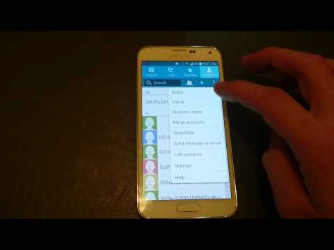 Galaxy S5: How to Sync Contacts / Address Book to Gmail :Reminder- CONTACTS TO DISPLAY