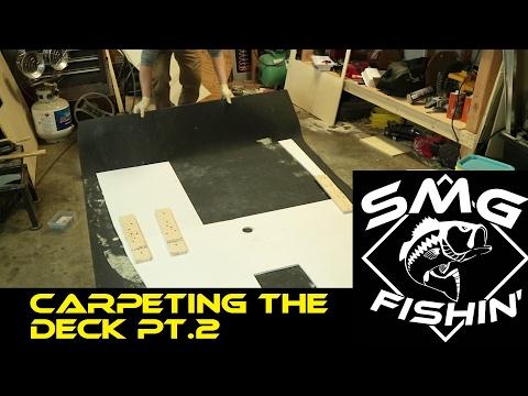 Carpeting The Deck | Jon Boat to Bass Boat Restoration