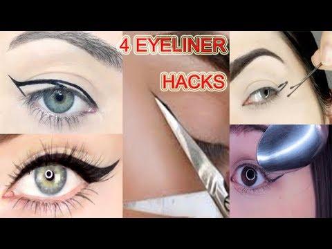 GREAT EYELINER TIPS/PERFECT EYELINER WINGED/EASY EYELINER HACKS