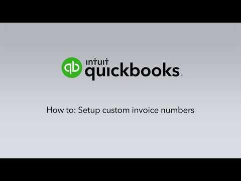 How to setup custom Invoice numbers