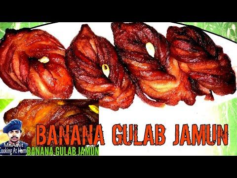 BANANA GULAB JAMUN (बनाना गुलाब जामुन)