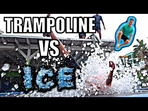 TRAMPOLINE VS ICE **400LBS**