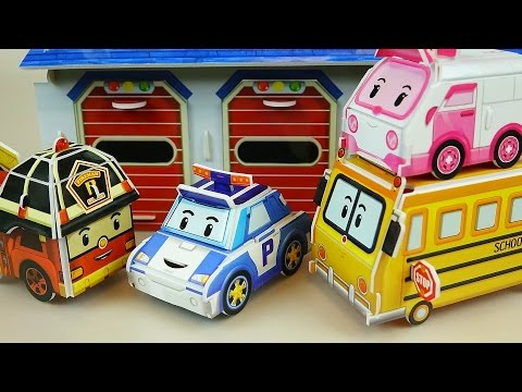 Poli Paper car toys - How to Make Robocar Poli bus & car toys 로보카폴리 종이 장난감