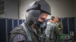 Air Force Pilots Prepare And Take Off
