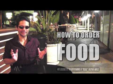 HOW TO ORDER FOOD LIKE AN ALPHA MALE ( 1 SECRET TRICK!!! )