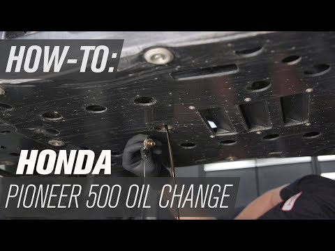 How To Change the Oil on a Honda Pioneer 500