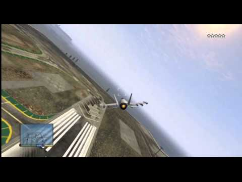 GTA 5 - Epic Airport Destruction With A Jet Fighter