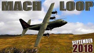 AMAZING LOW FLYING through a Valley at the MACH LOOP - Tornado, Hercules, F15, Hawk, Tucano