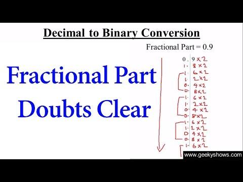Decimal to Binary Conversion Fractional Part Explanation (Hindi)