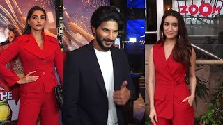 Sonam Kapoor and Dulquer Salmaan starrer The Zoya Factor screening |Shraddha looks HOT in red outfit