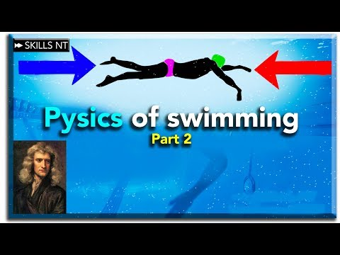 Isaac Newton will help you swim faster. Physics of swimming part 2