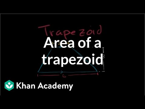 Area of a trapezoid | Perimeter, area, and volume | Geometry | Khan Academy