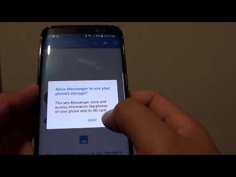Samsung Galaxy S8: How to Allow Facebook Messenger to Access Photos / Files