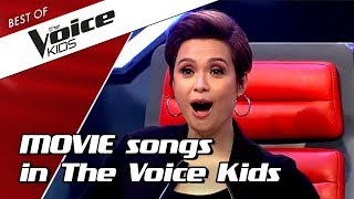 TOP 10 | MOVIE SONGS in The Voice Kids