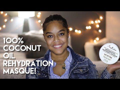 SHEA MOISTURE 100% VIRGIN COCONUT OIL REHYDRATION TREATMENT MASQUE | Review  | Danielle Renée