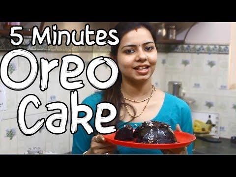 5 minutes Microwave Oreo Cake Recipe In Hindi