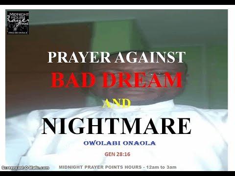 Prayer against bad dream and nightmare