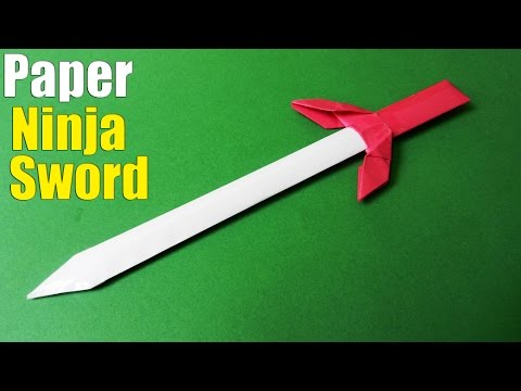 How to make a Paper Sword | Ninja Sword Tutorial