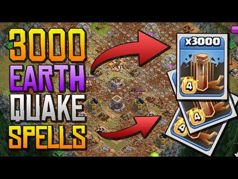 3000 EARTH QUAKE SPELLS - Maxed Base Destruction! - MUST SEE!