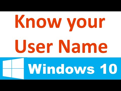 Find Your Computer Username in Windows 10
