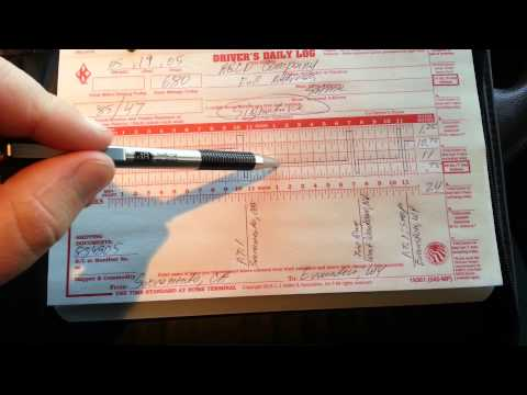 How to Fill Out a Truck Driver Log Book | NEW and UPDATED Video