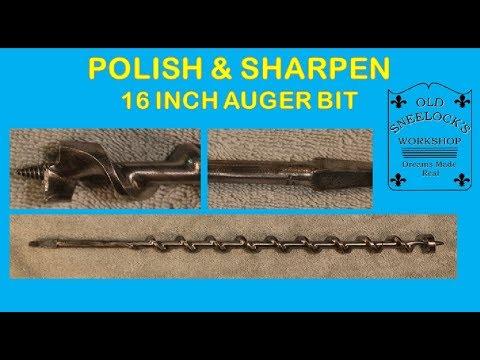 POLISHED AUGER BIT #6 1 2