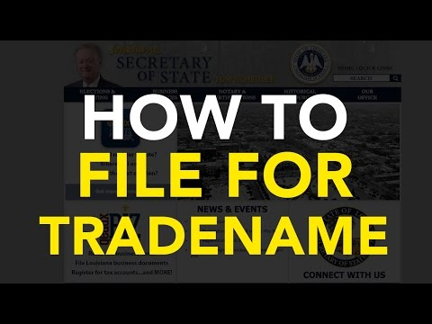 How to file for Trade Name [Louisiana]