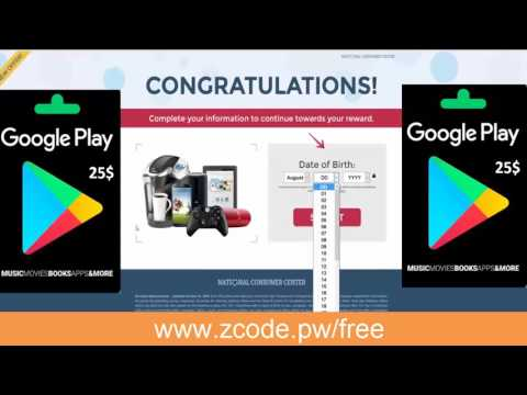 Updated 2017! How to get a gift card code FREE play store redeem code