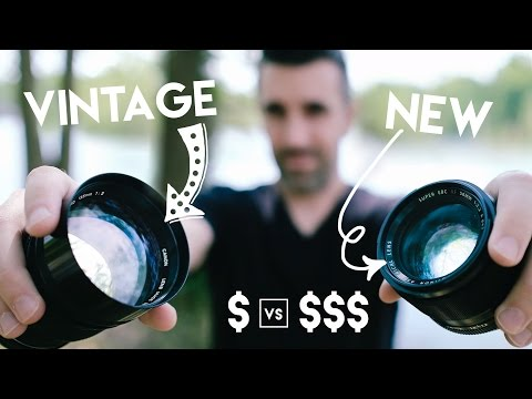 VINTAGE $100 Lens vs NEW $1000 Lens! Using CHEAPER Film Lenses with DSLR's and Mirrorless Cameras