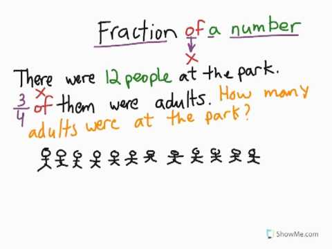 Fraction of a number