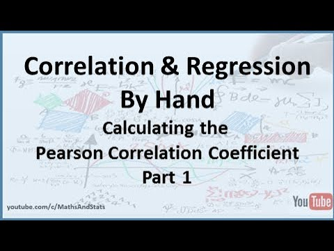 Correlation and Regression: Calculating the Pearson Correlation Coefficient (Example 2) - Part 1